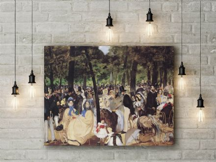 Manet: Music in the Tuileries. Fine Art Canvas.
